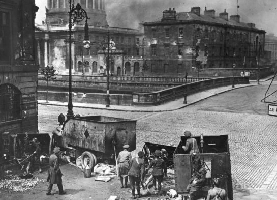 Shelling the Four Courts from Winetavern Street, June 30 1922