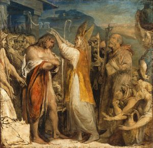 James Barry (1741-1806): The Baptism of the King of Cashel by St Patrick c.1800. Nationa Gallery of Ireland